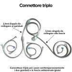 connettore triplo